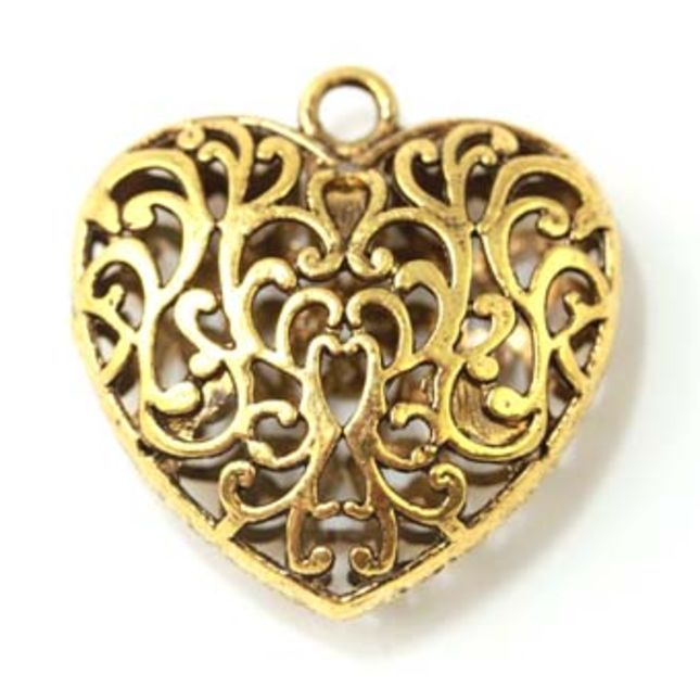 Beads findings products coastal treasures is australias filigree heart gold pendant aloadofball Choice Image